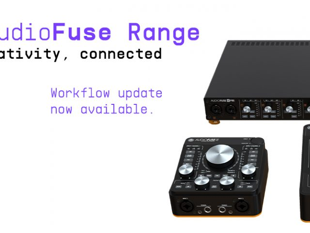 AudioFuseシリーズ新ファームウェア公開